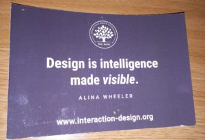 Interaction Design Foundation Postcard